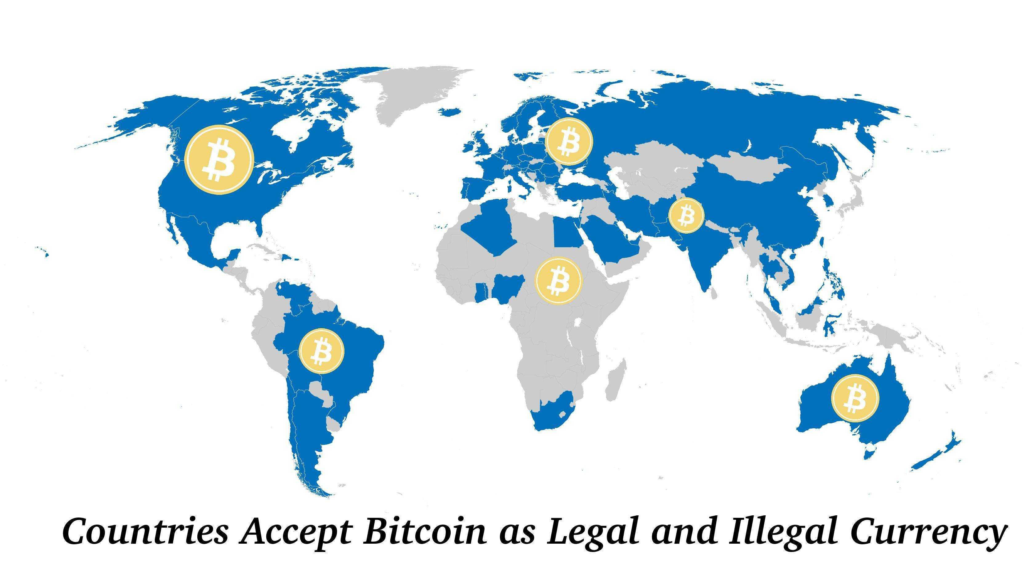 Countries Where Accept Bitcoin as Legal and Illegal