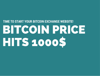Bitcoin Price Hit The Shot 1000$ ! Time To Start Your Bitcoin Exchange Website!