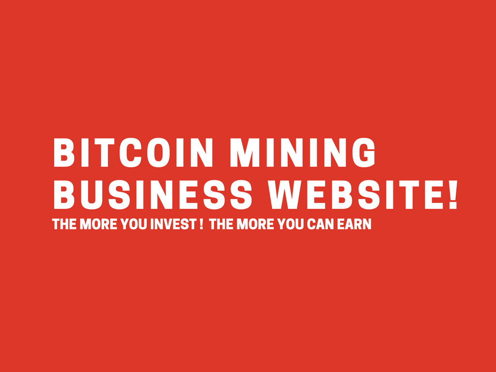 How to Setup a Bitcoin Mining Business Website
