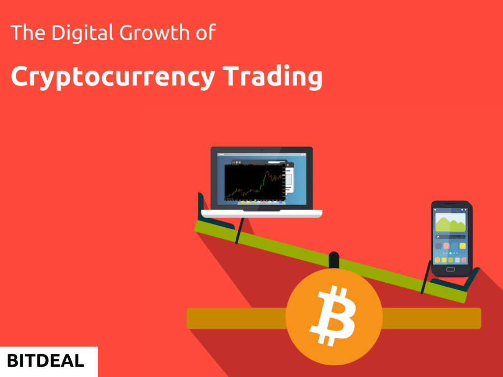 The digital growth and development of cryptocurrency trading